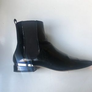 Faux Leather Zara Booties